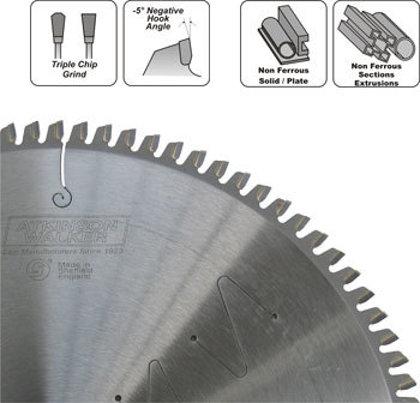 184x30mm zāģripa metālam 14 zobi